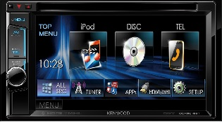 "Kenwood display 6.2"" WVGA DVD Receiver s ugrađenim Bluetoothom"