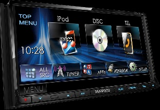 "Kenwood display 7.0"" WVGA DVD Receiver s Bluetoothom"
