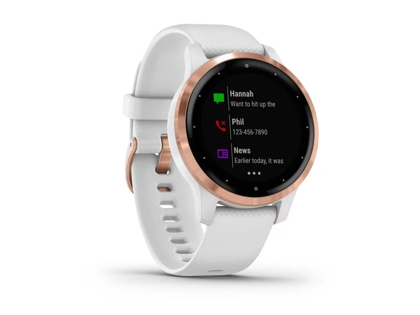 Garmin Vivoactive 4S rose gold bijeli remen