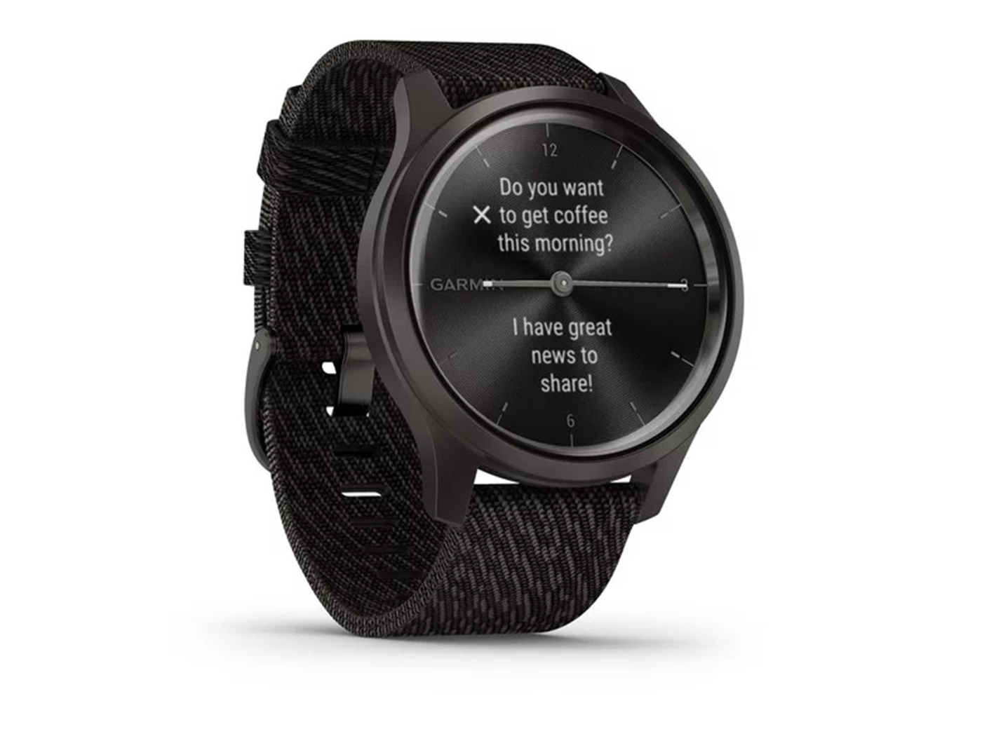 Garmin  vivomove  style  slate  black  pepper