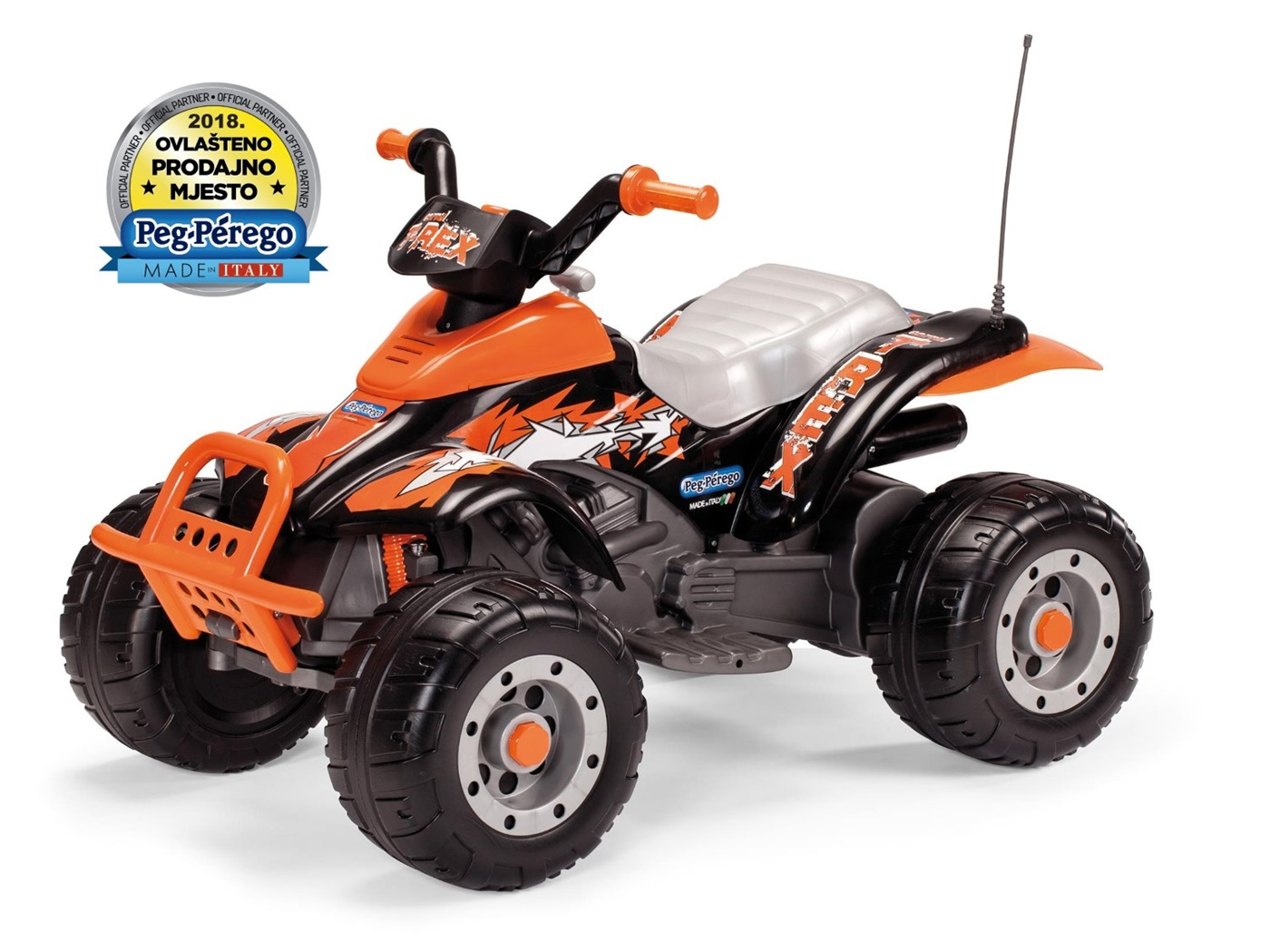 peg  perego  t  rex  black  orange