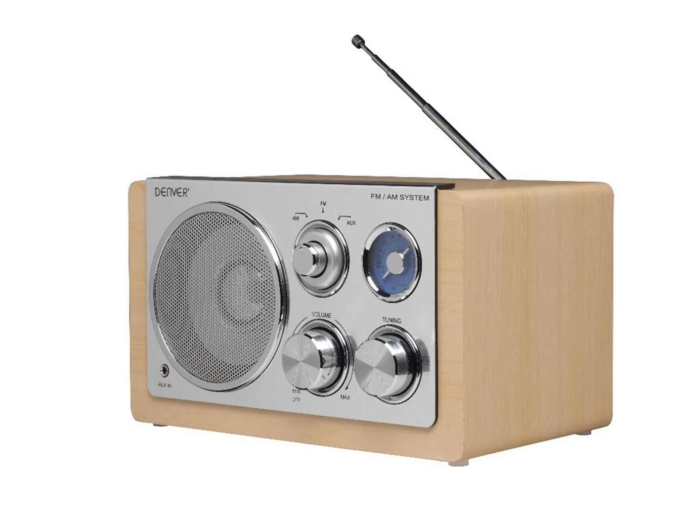 DENVER AM/FM RADIO TR-64 WOOD