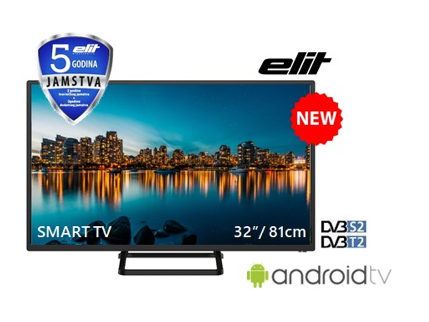 "Elit HD LED TV 32"" -L-3219AST2"