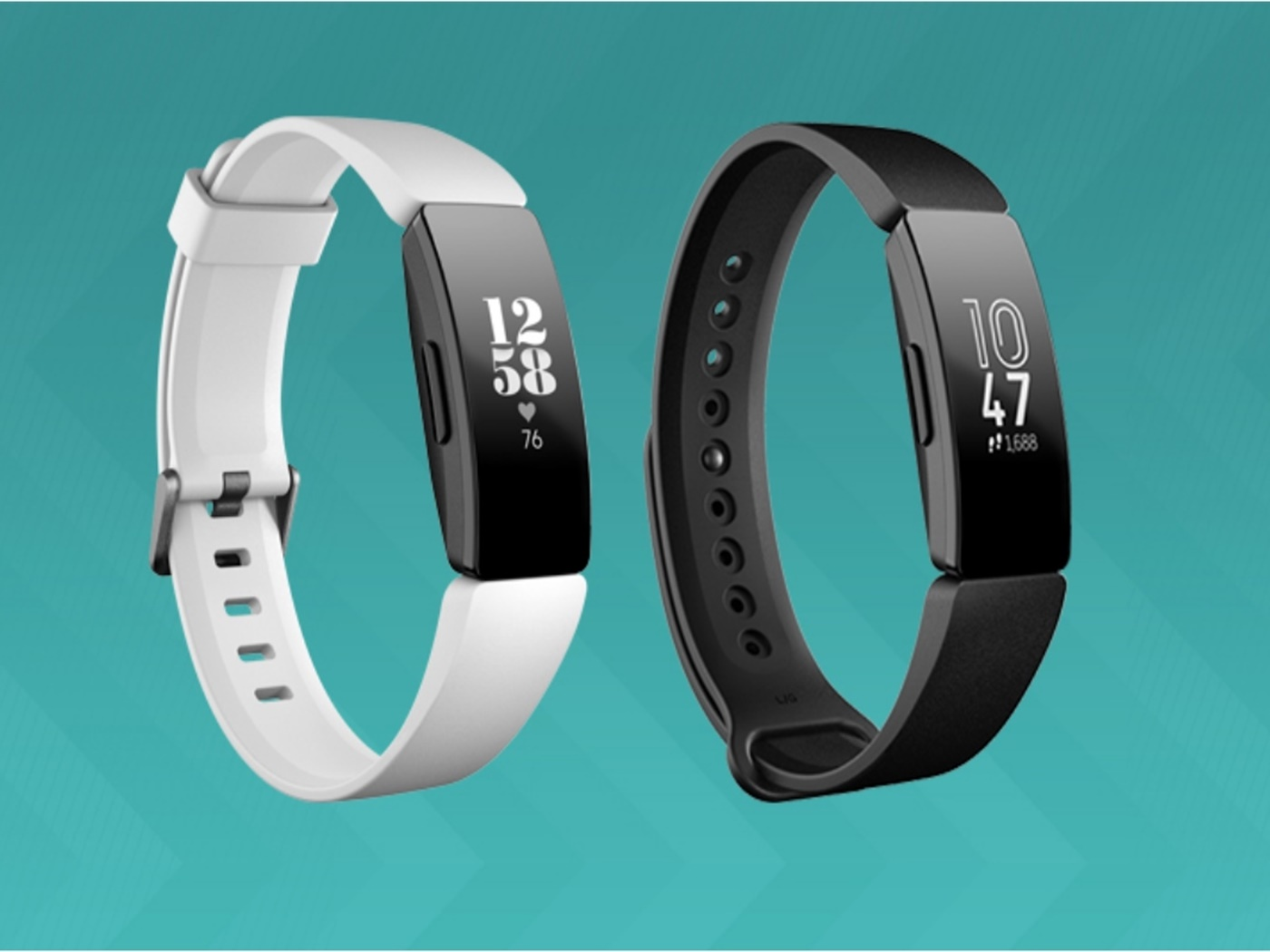 fitbit  inspire  hr  black  and  white