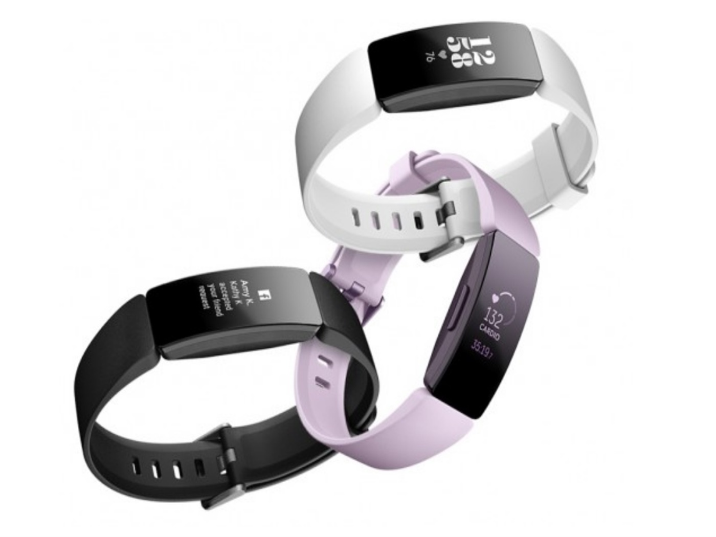fitbit  inspire  hr  black  and  white ,  lilac