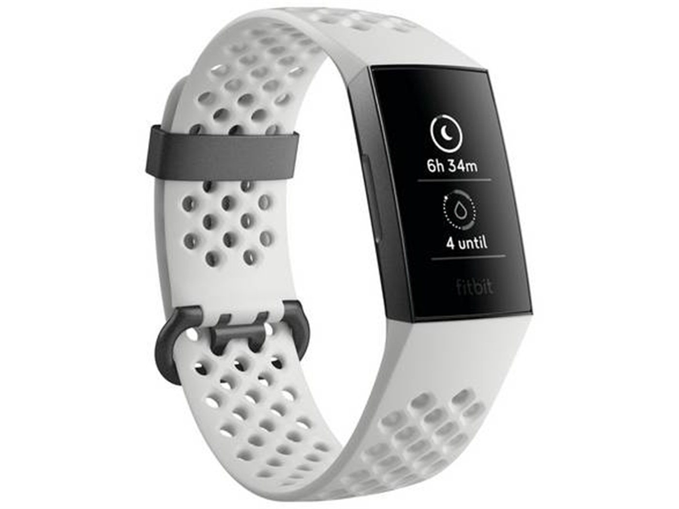 Fitbit  charge   3  special  edition  graphite  white  silicone