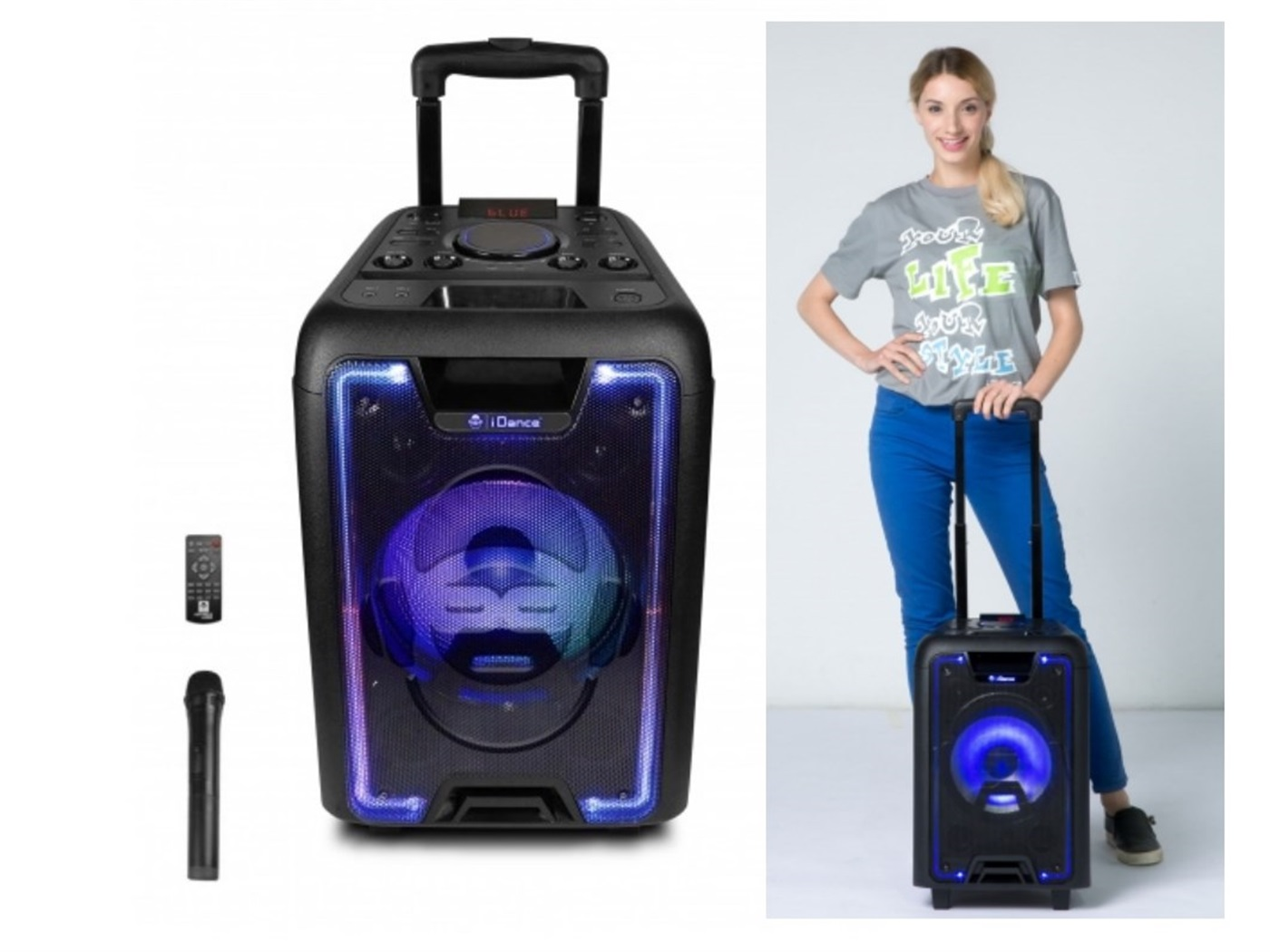 Karaoke iDANCE MEGABOX 1000, 200W, disco LED