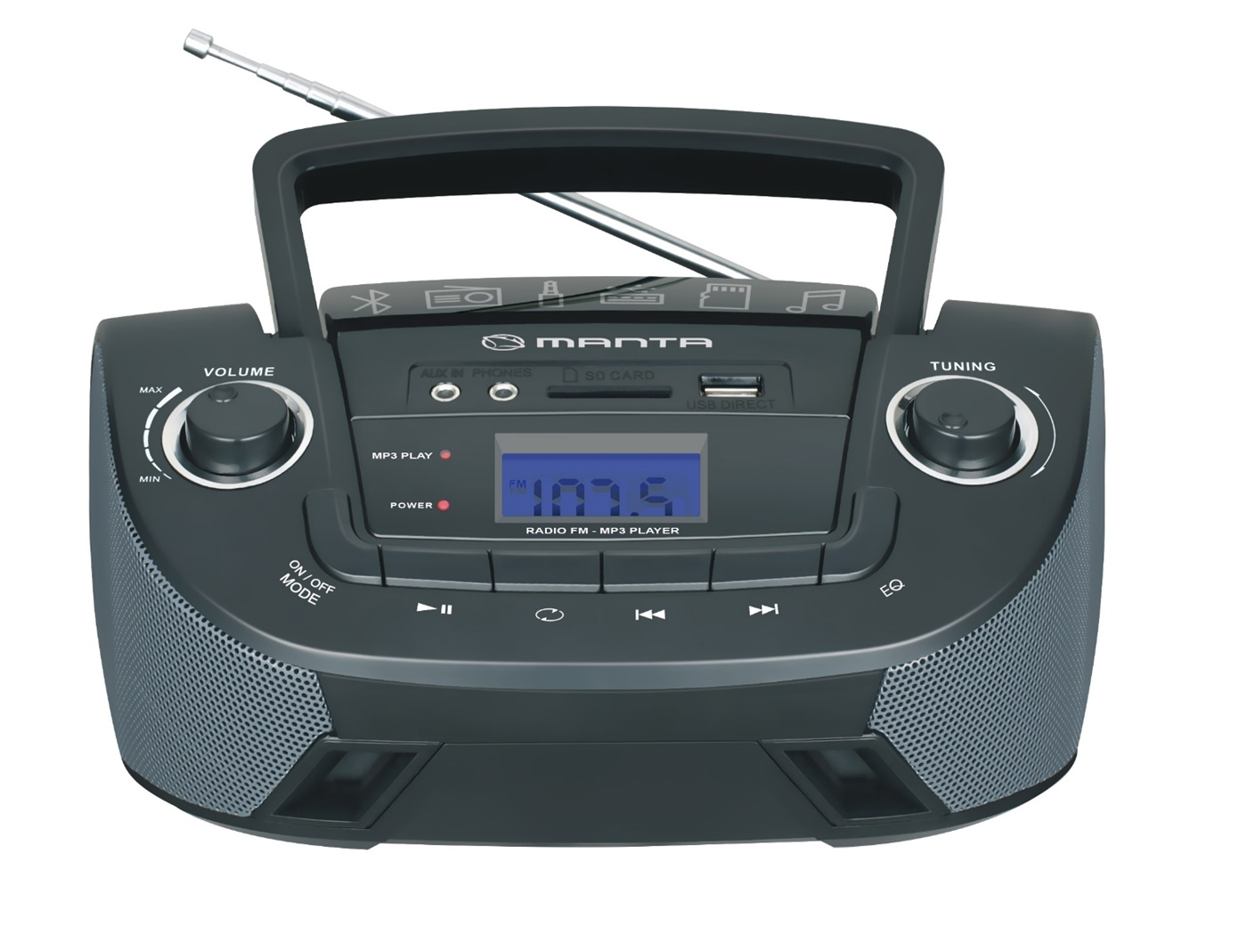 MANTA radio Boombox MM9208BT